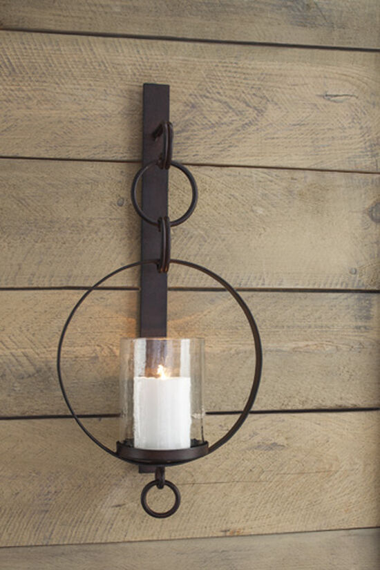Casual Chain-Link Wall Sconce in Brown