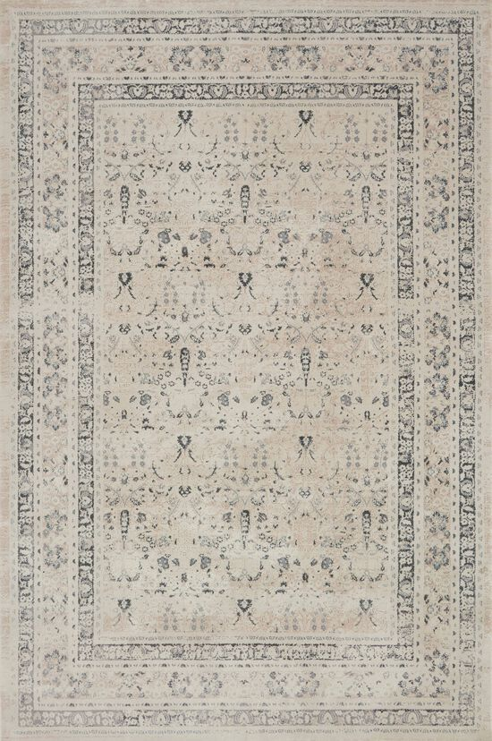 """Transitional 1'-6""""x1'-6"""" Square Rug in Ivory/Sand"""