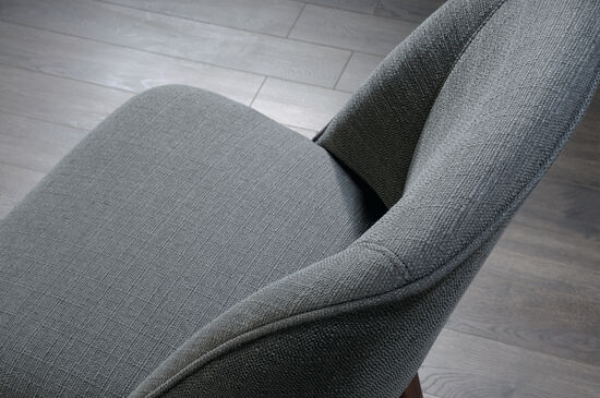 "Traditional 21"" Accent Chair in Gray"