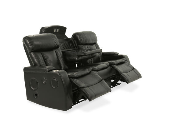 "82.5"" Power Reclining Sofa with USB Port and Blutetooth in Black"