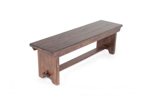 "58"" Rectangular Country Bench in Rustic Oak"
