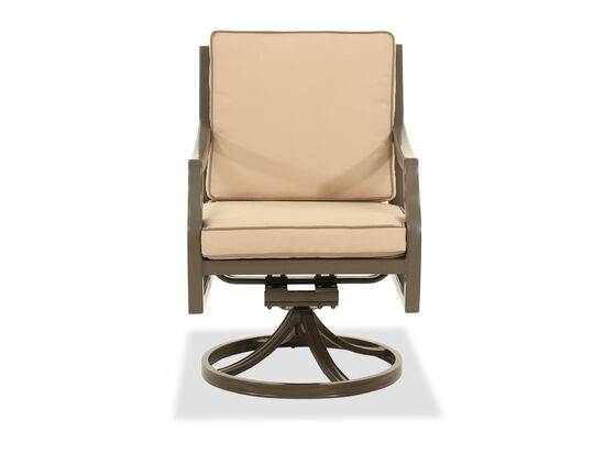 Traditional Swivel Rocker Chair in Beige