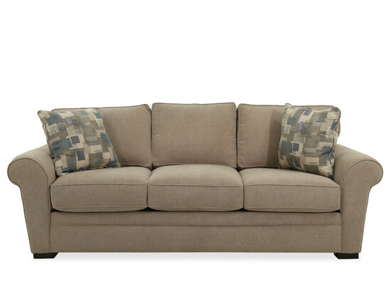 Casual Queen Sleeper Sofa in Light Brown