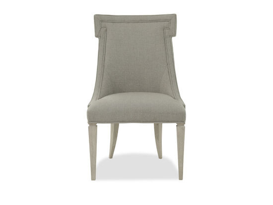 "T-Shape Back Rest 24"" Upholstered Side Chair in Grey"