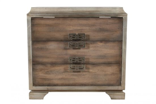 34'' Three-Drawer Contemporary Chest in Brown