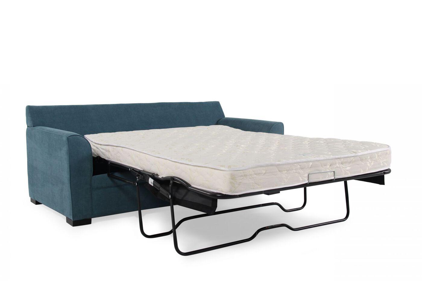 Jonathan Louis Blissful Blue Full Memory Foam Sleeper Sofa