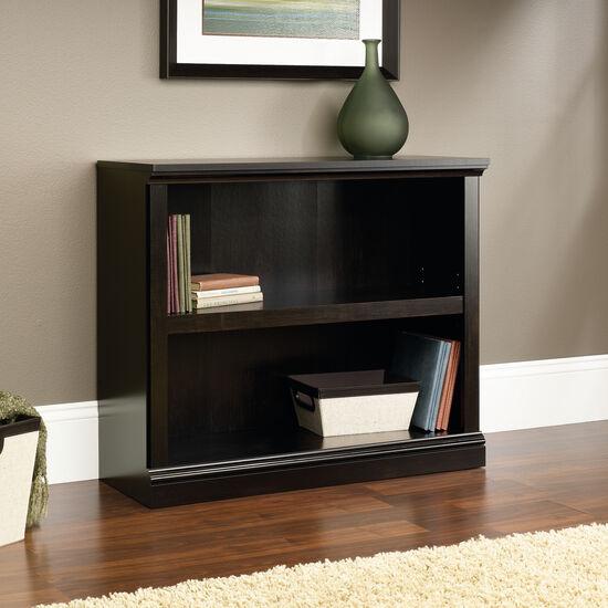 Transitional Adjustable Shelf Open Bookcase in Estate Black