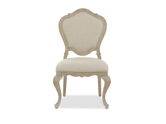 "Refined Romantic Luxury 24"" Side Chair in Weathered Sand"