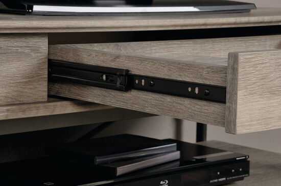 Extension Slide Drawer Contemporary Tv Stand In Northern