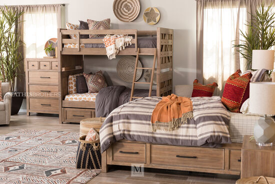 Four-Drawer Contemporary Youth Chest in Brown