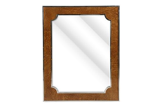 """45"""" Glam Beveled Accent Mirror in Dark Caramel"""