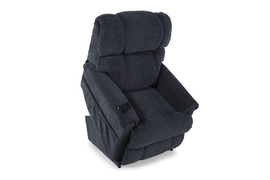 """Rolled Arm Casual 33"""" Lift Recliner in Dark Blue"""