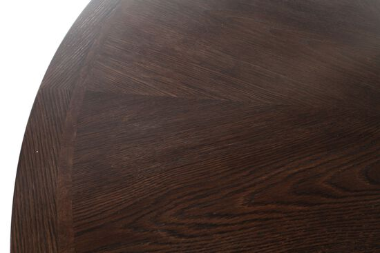"Contemporary 64"" to 80"" Round Dining Table in Dark Brown"