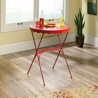 Scalloped Top Modern Bistro Table in Red