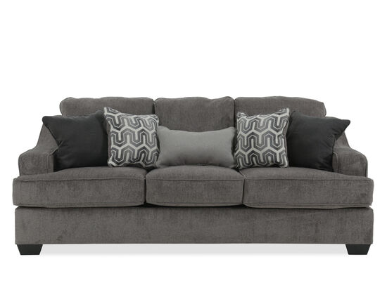 "Contemporary 89"" Sofa in Gunmetal"