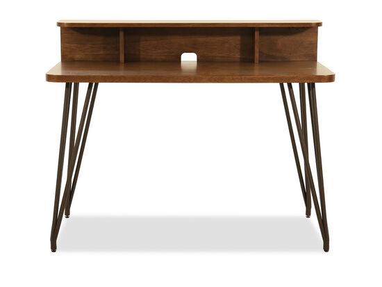 "48"" Desk with Hutch in Medium Brown"