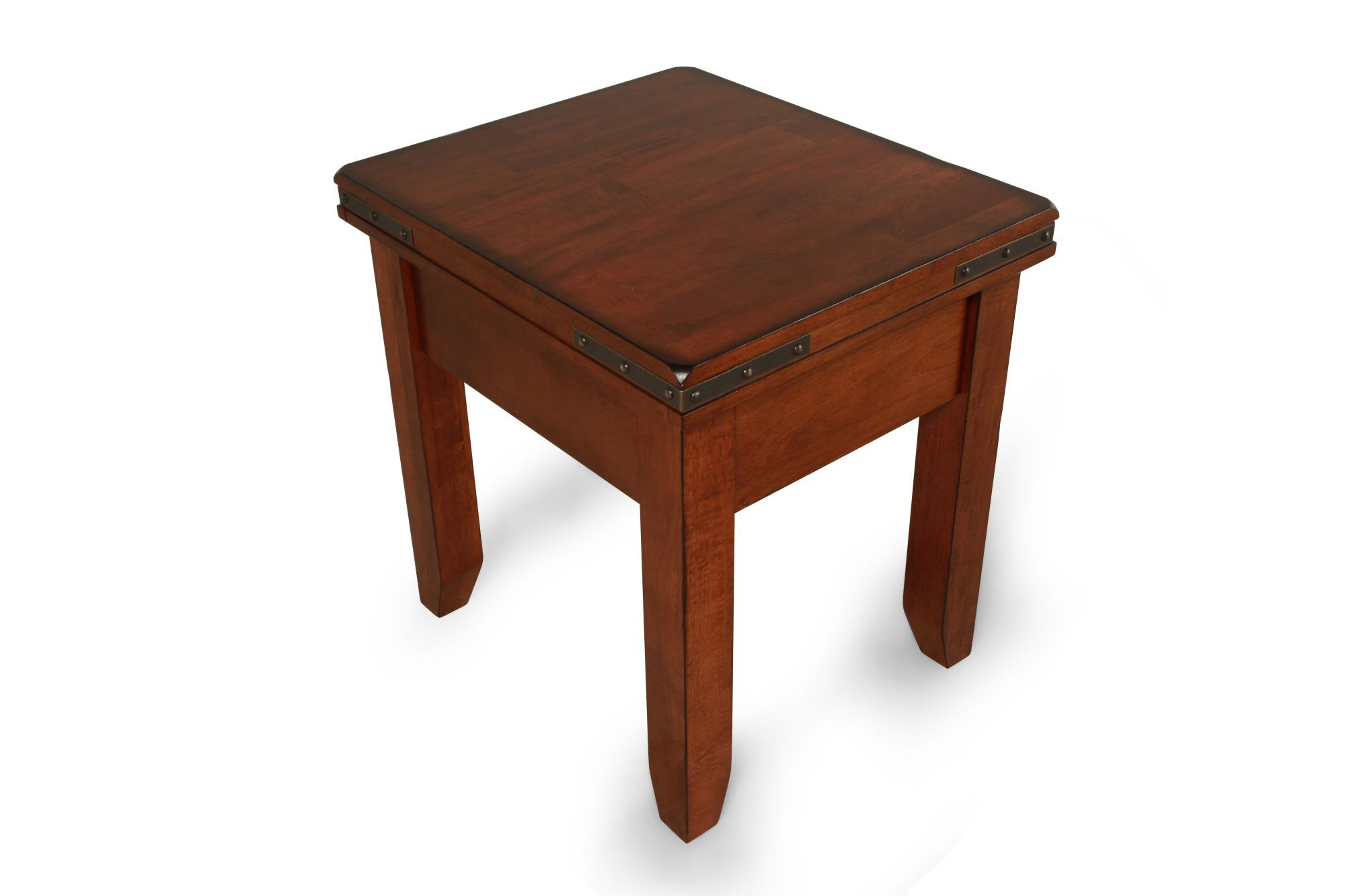 Square Traditional Mango Wood End Table ...