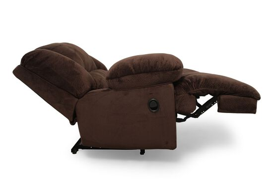 """Contemporary 59"""" Wall Recliner in Chocolate Brown"""