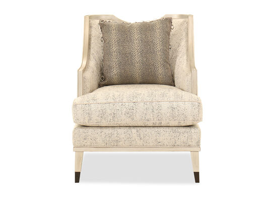 Half-Moon Back Modern 29'' Chair in Ivory