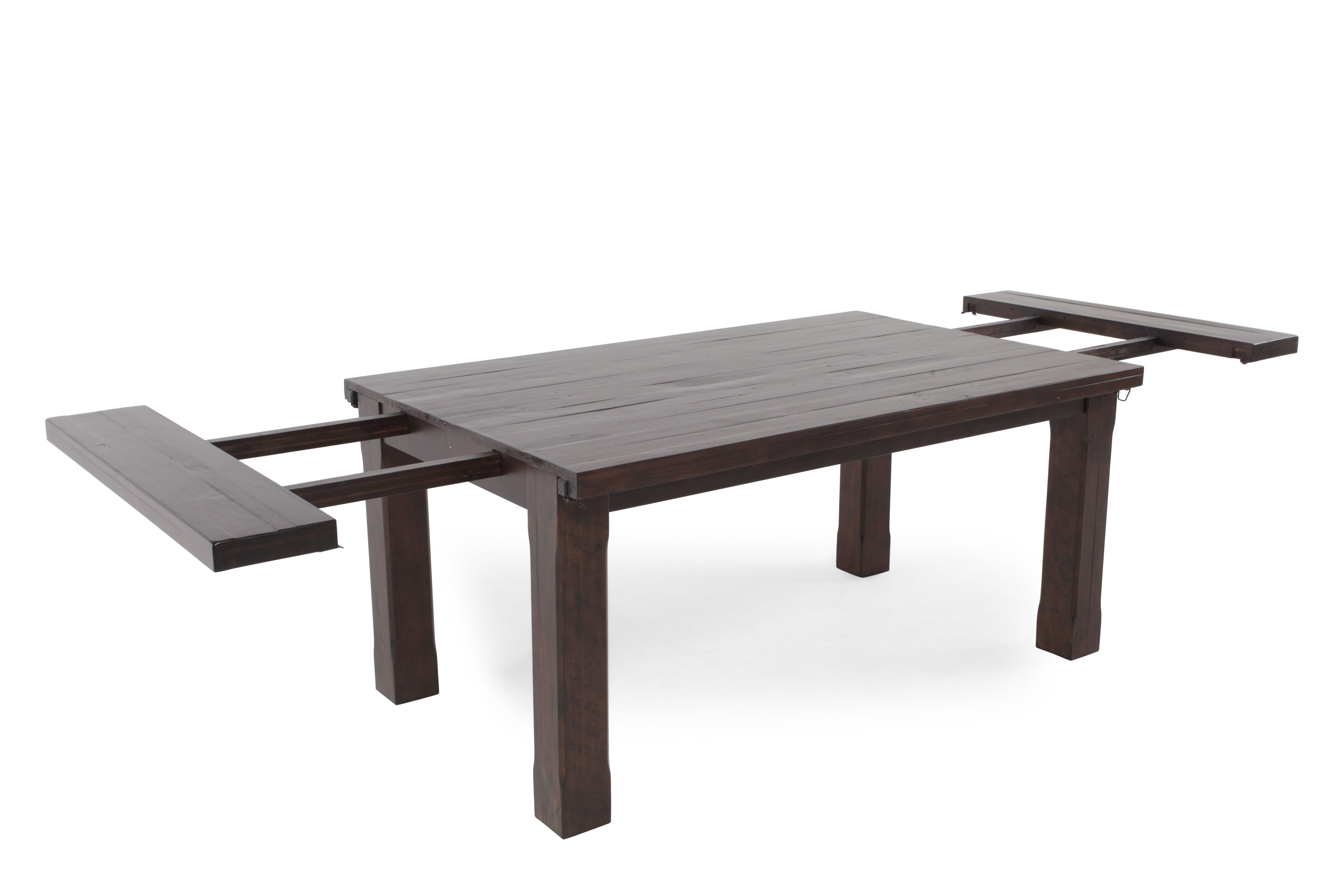 Transitional 80u0026rdquo; To 112u0026rdquo; Planed Top Dining Table ...