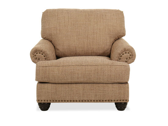 Nailhead-Trimmed Casual Chair in Beige