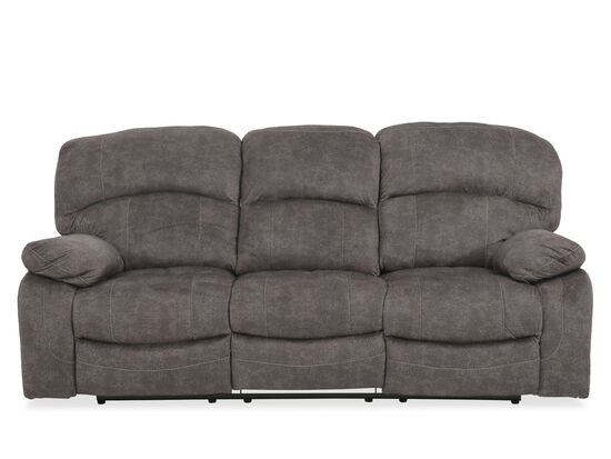 """87"""" Power Reclining Sofa with USB Charging Station in Gray"""
