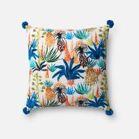 "Loloi Contemporary 18""x18"" Cover w/poly pillow in Multi"