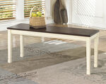 Ashley Whitesburg Brown/Cottage White Large Dining Room Bench