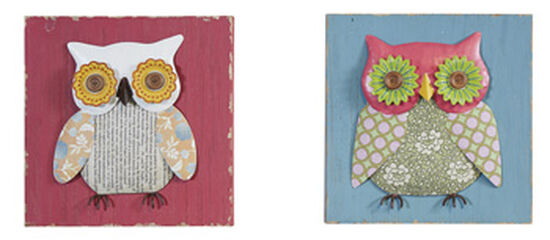 Two-Piece Casual Owl Patchwork Wall Decor
