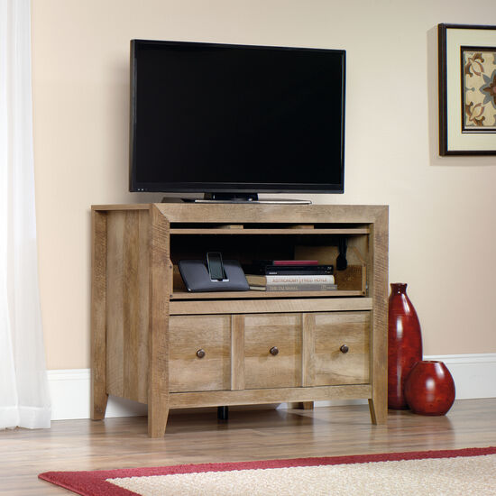 Two-Drawer Traditional Console in Oak