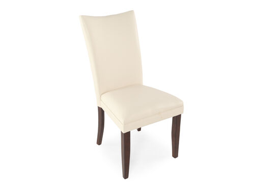Two-Piece Flared Back Side Chair Set in Ivory