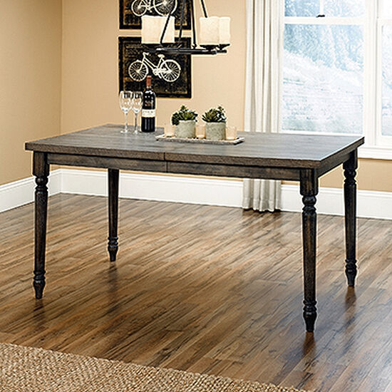 """Traditional 36"""" Solid Wood Split Top Dining Table in Vintage Gray"""