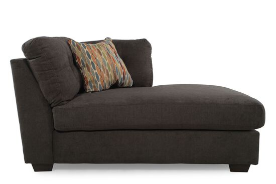 Microfiber 39 Quot Right Arm Facing Chaise In Chocolate Brown
