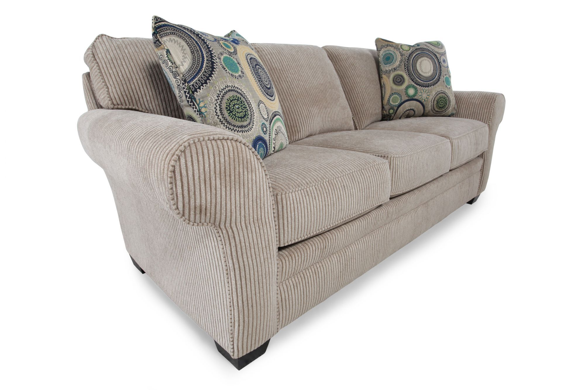 Traditional Textured Sofa In Sandstone