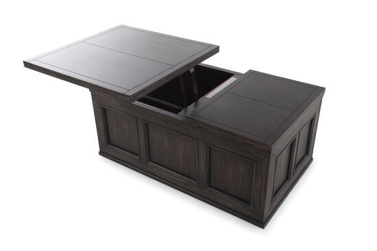 Lift-Top Casual CocktailTable in Black