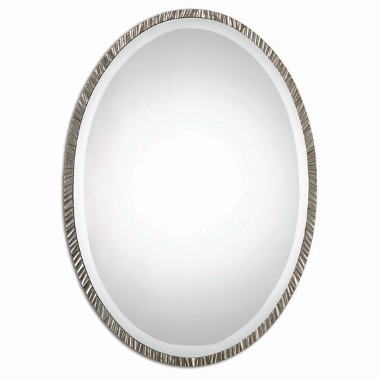 """28"""" Oval Accent Mirror in Nickel"""