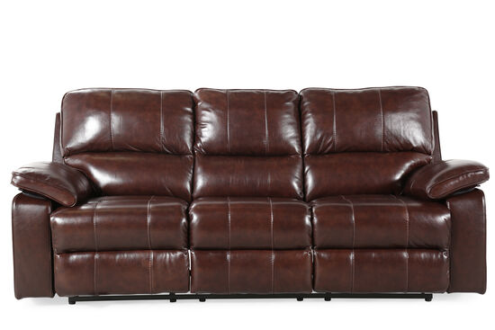 "Contemporary 90"" Power Reclining Sofa in Coffee Brown"