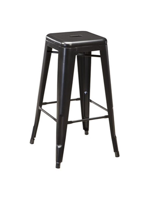 """Casual 30"""" Backless Bar Stool in Black"""