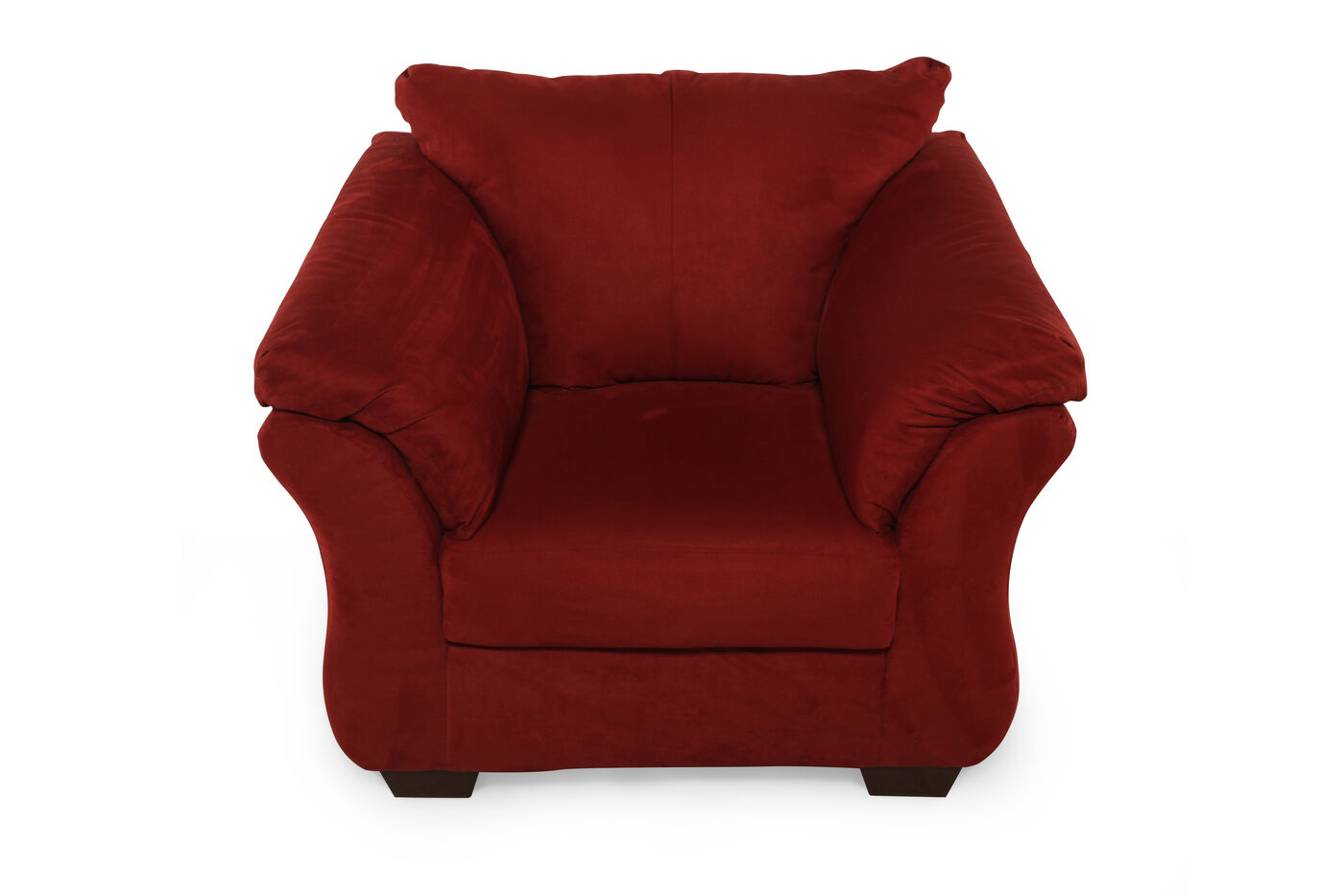 Low profile contemporary 46 chair in red mathis for Low living room furniture