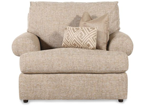 Tweed Textured Chair in Cream