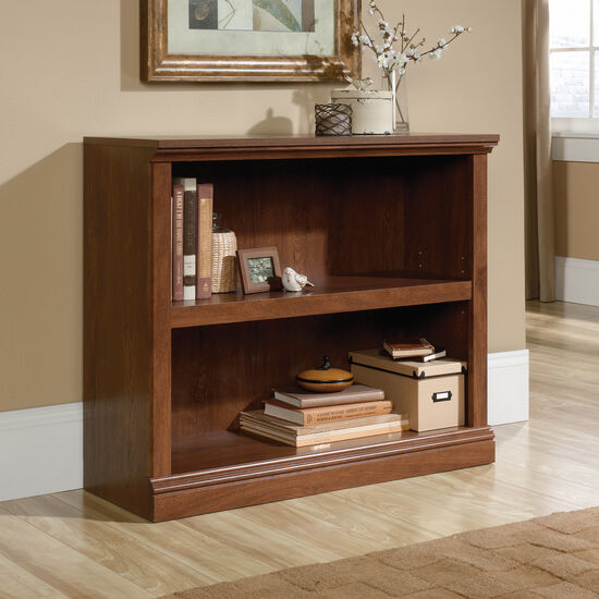 Contemporary Adjustable Shelf Open Bookcase in Oiled Oak