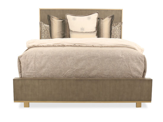 Traditional King Bed in Brown