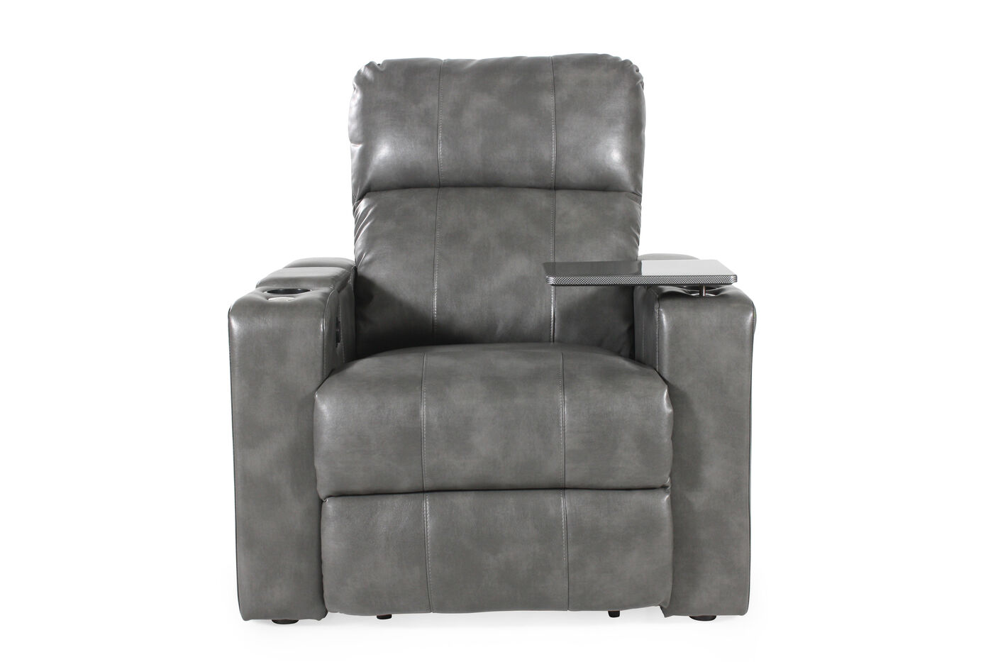 Traditional Home Theater Power Recliner In Grey Mathis