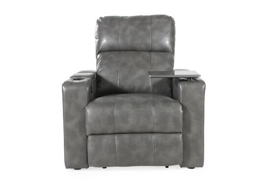 Traditional Home Theater Power Recliner in Grey