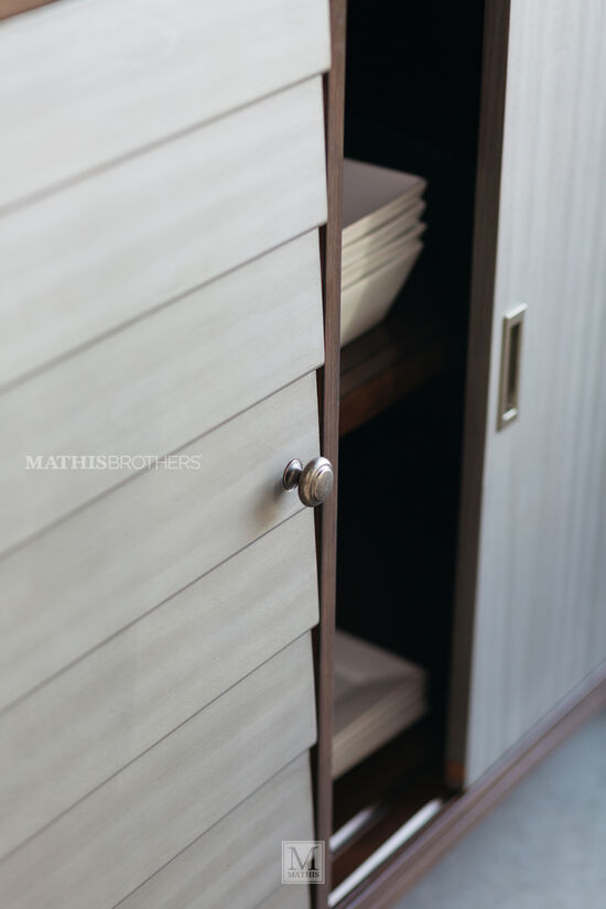 Contemporary Sliding-Door Server in Cream