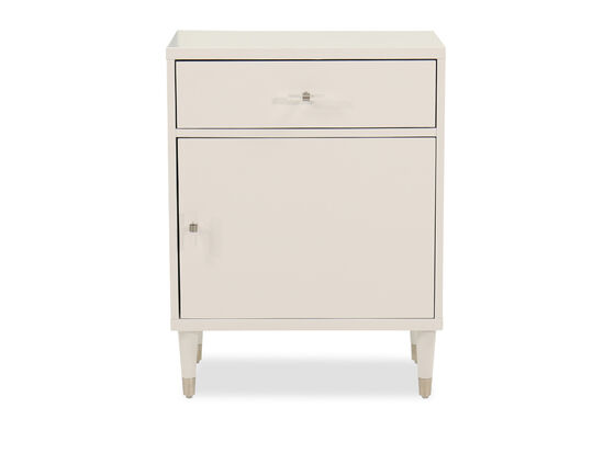 One-Door Casual Chairside Chest in White