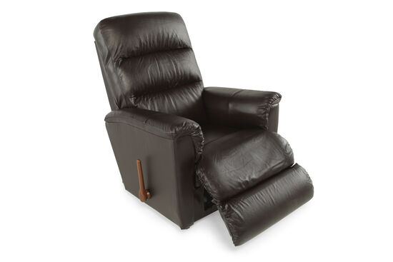"Leather 34.5"" Rocker Recliner in Brown"