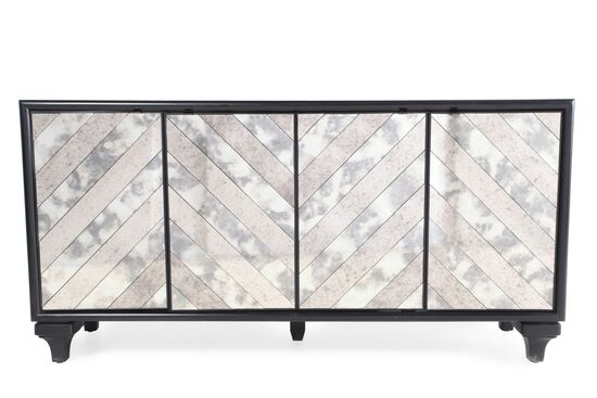 34'' Paneled Doors Transitional Console