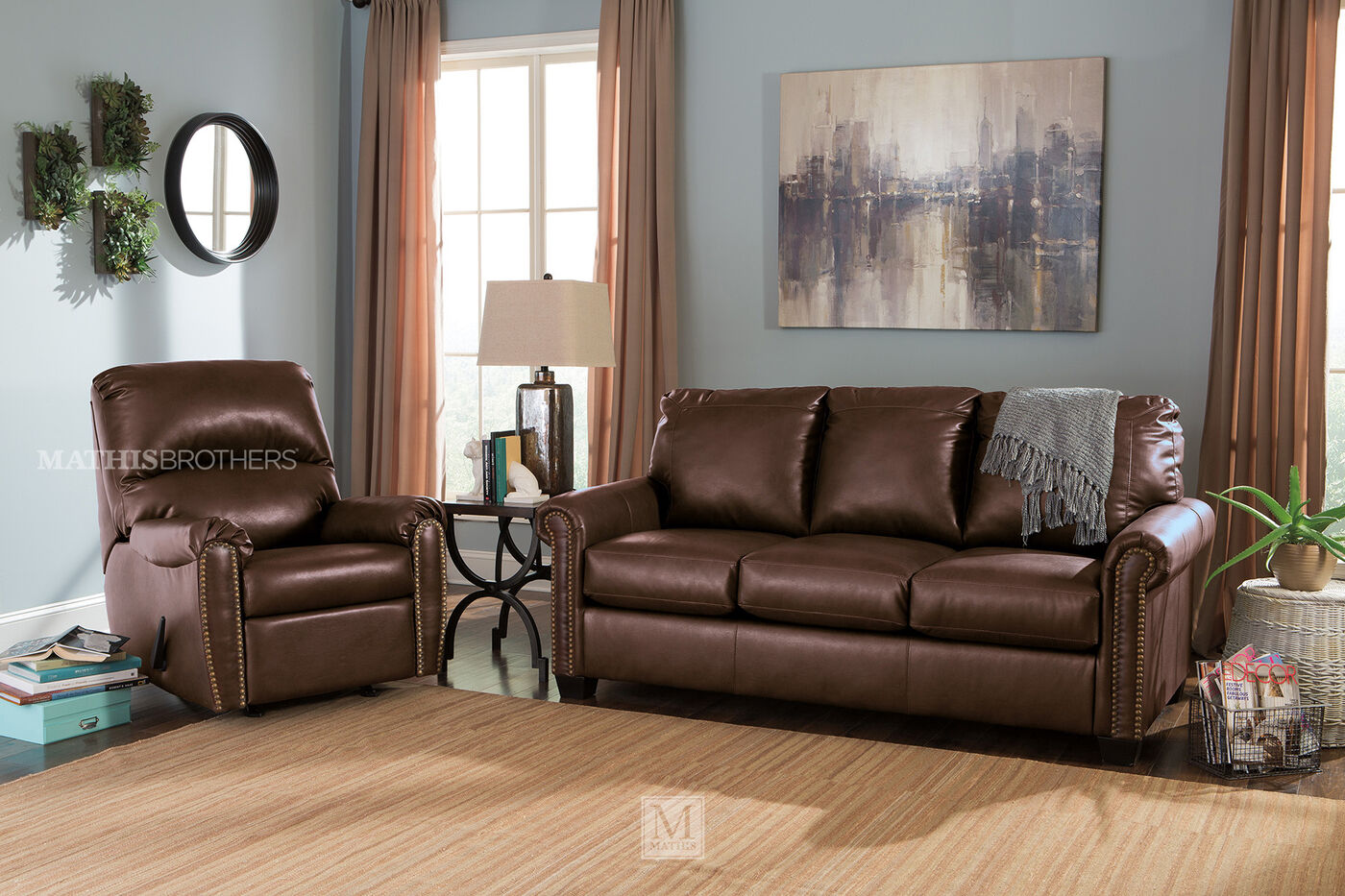 Rolled Arm Contemporary 83 Queen Sleeper Sofa In Chocolate  ~ Genuine Leather Sleeper Sofa