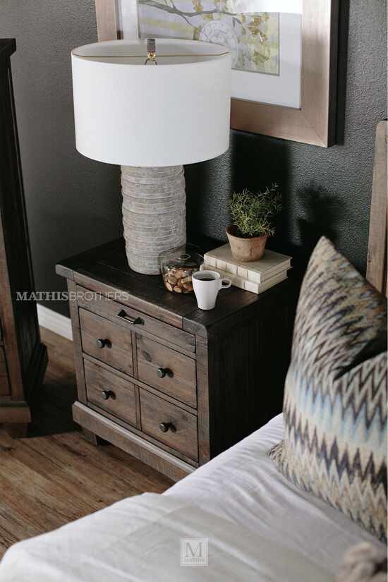 Four-Piece Solid Wood Bedroom Set in Natural Umber